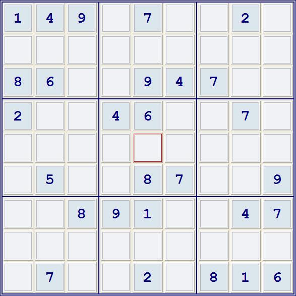 Судоку очень сложный 9х9, 9 на 9