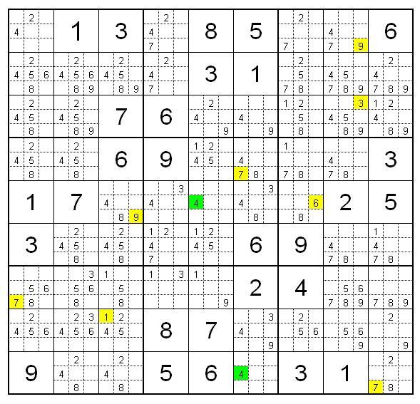 Судоку очень сложный 9 на 9, 9х9