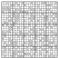 Судоку для печати с латинскими буквами