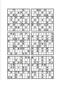 Судоку для печати 9х9, 9 на 9, 9 вариантов