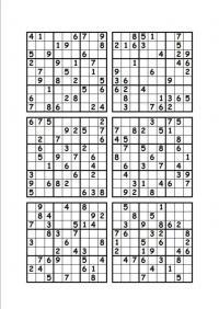 Судоку для печати 9 на 9, 9х9, 9 вариантов