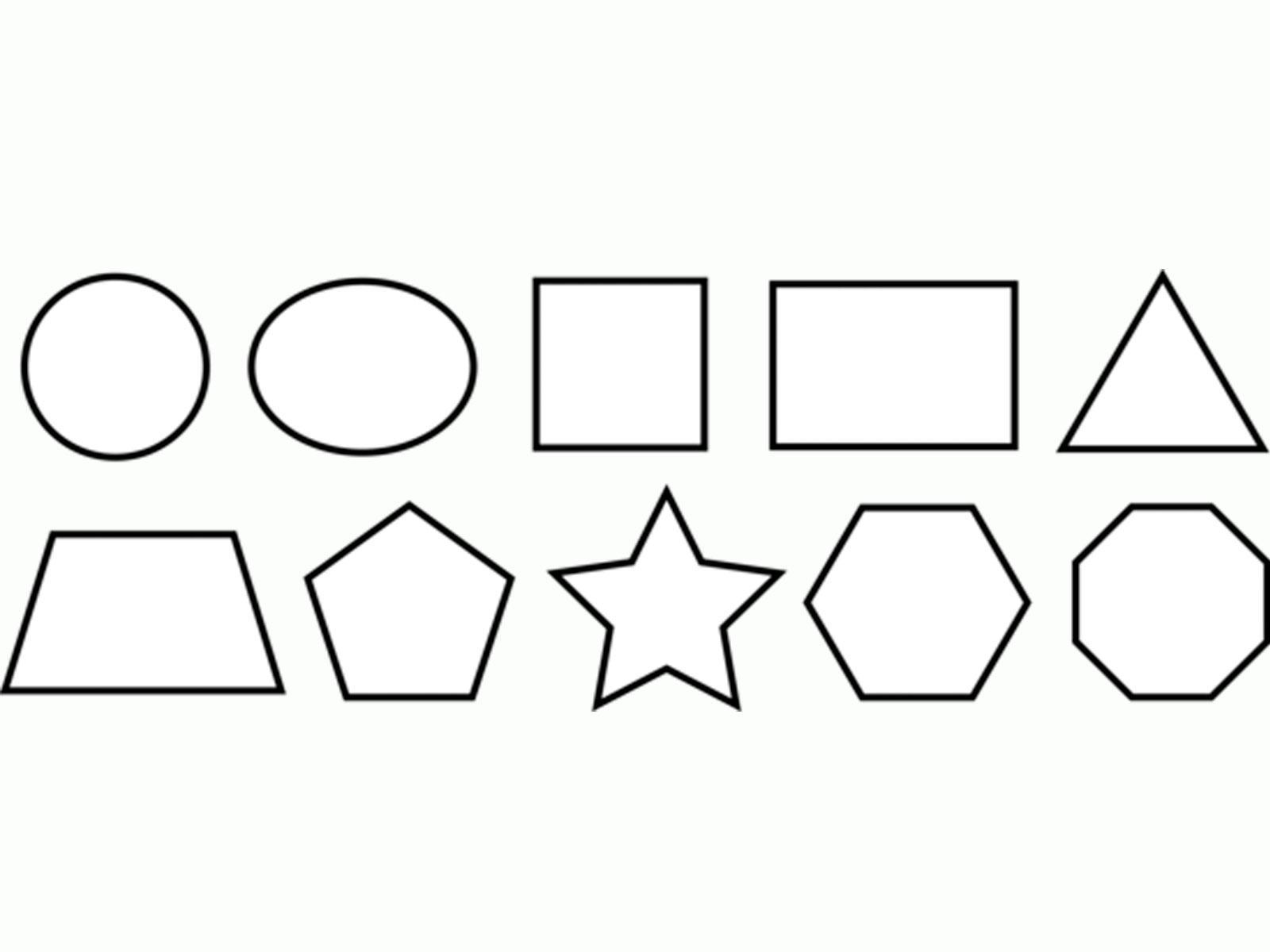 Раскраски фигуры, круг, овал, квадрат