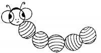 Раскраски фигуры, гусеница из кругов