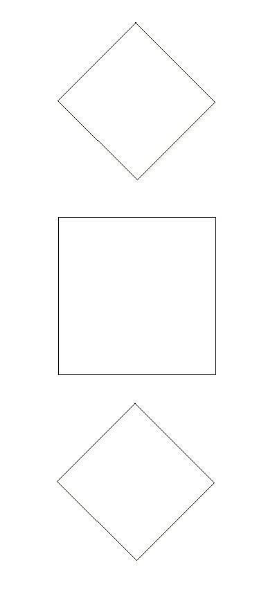 Раскраски из фигур, квадраты