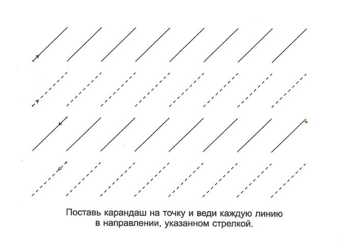 Прописи линии