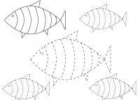 Прописи для дошкольников, рыбки