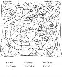 Раскраски по английским буквам, змея