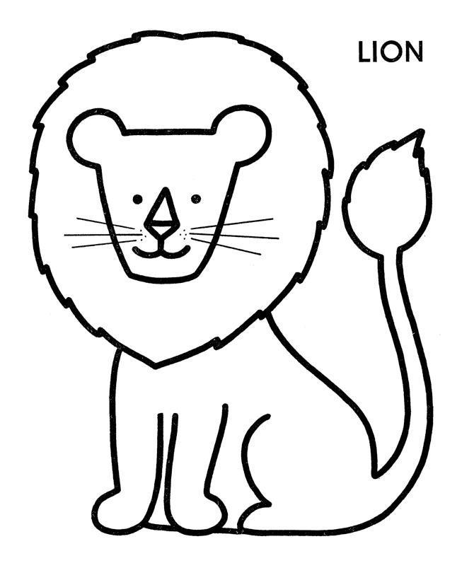 Обучающие раскраски, лев по английски