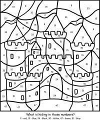 Раскраски по номерам, крепость