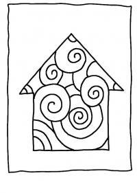 Раскраски формы, домик