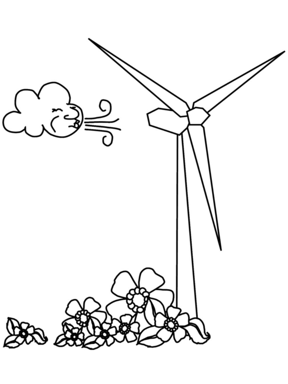 обучающие раскраски ветряная мельница