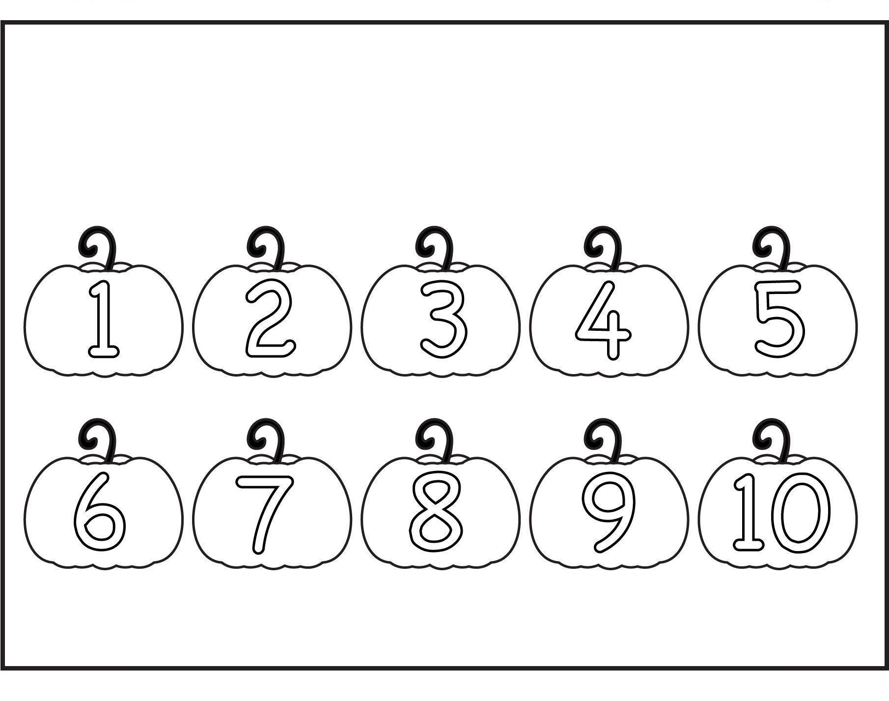 Цифры от 1 до 10