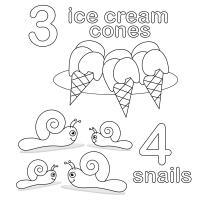 Учимся считать, цифра 3 и 4