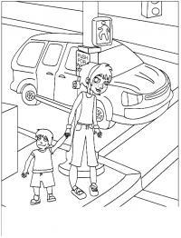 Обучающие раскраски, правила дорожного движения