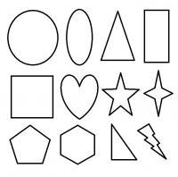 Раскраски формы, прямоугольник, квадрат, сердце