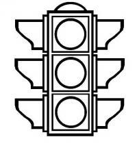 Знаки дорожного движения раскраски, светофор
