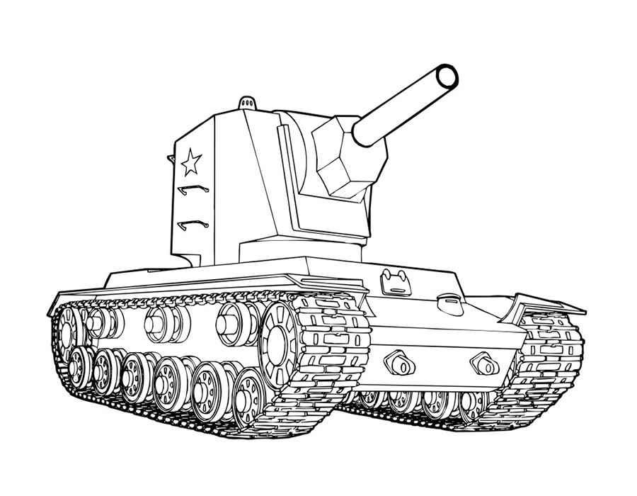 Раскраска танк распечатать бесплатно