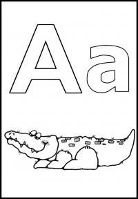 Раскраски по английским буквам