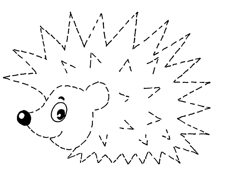 Рисунок ёжика для поделки 27