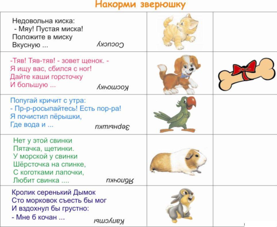 Карточки домашние животные с загадками договорками