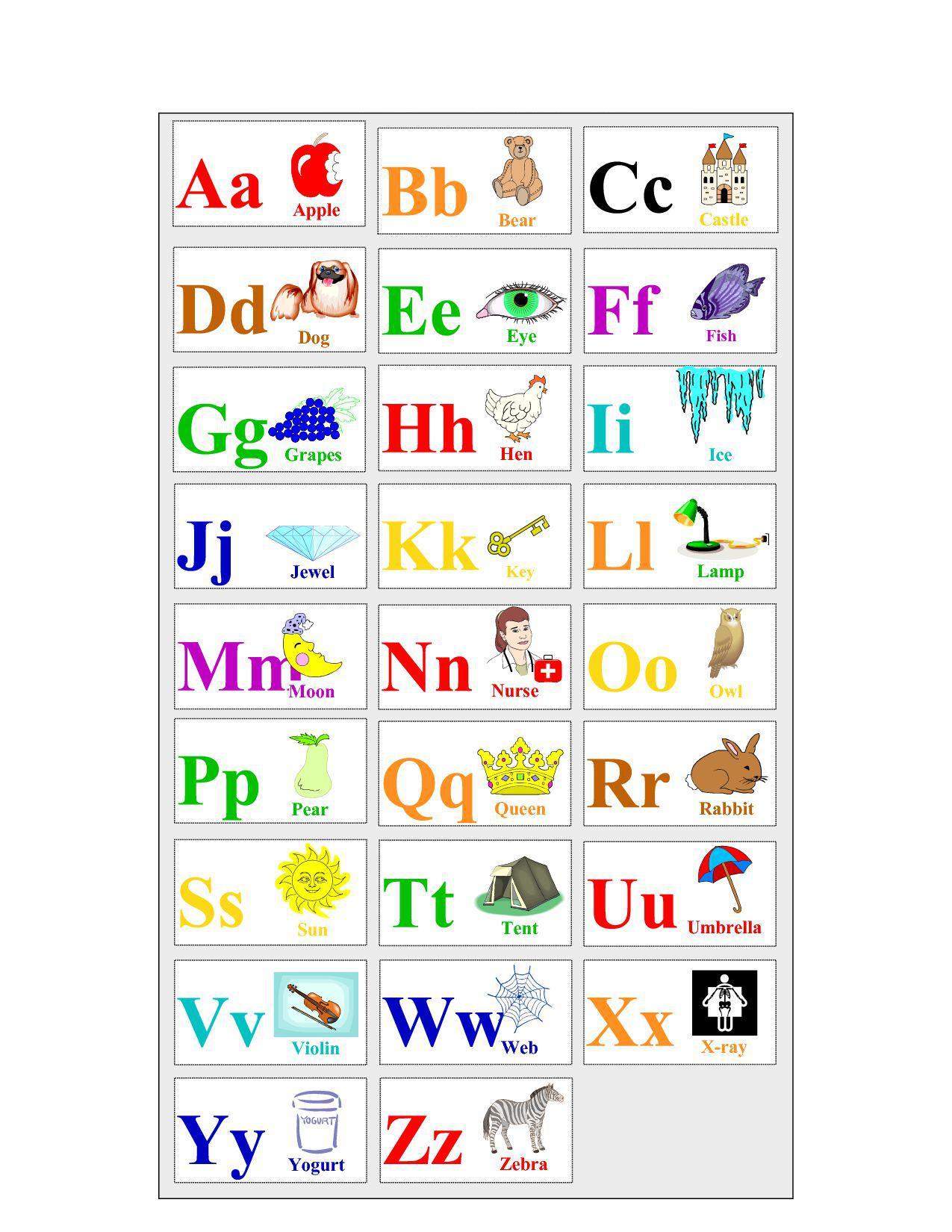 милые английский алфавит красочные карточки игры