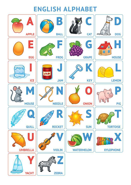 Английский алфавит в картинках для детей 2 класса своими руками 86