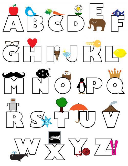 Карточки алфавит английский