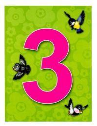 Карточки цифра 3