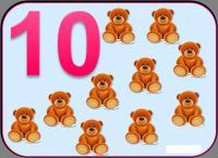 Карточки цифра 10
