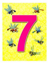 Карточки цифра 7