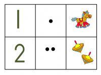 Карточки цифра 1 от 2