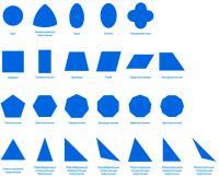 Карточки фигуры, круг, криволинейный треугольник, овал