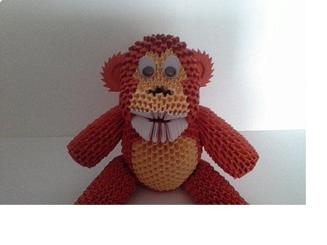 Обезьянка к году обезьяны из бмаги