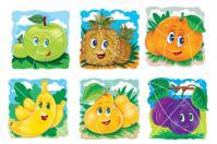 Фрукты пазлы, яблоко, ананас, апельсин