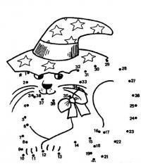 Графический диктант по клеточкам сложные, котенок в шляпе раскраска соединялка