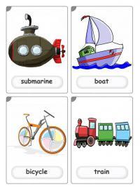 Подводная лодка, корабль, поезд на английском