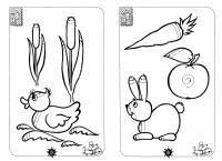 Подготовка руки к письму штриховка, утенок в камышах, кролик и овощи