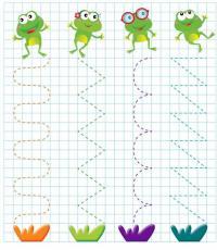 Лягушки, волнистые линии