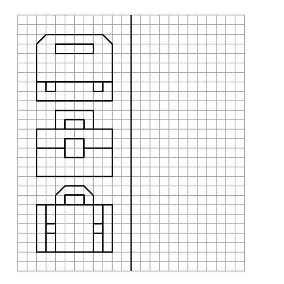 Графический диктант по клеточкам сложные, портфели