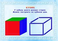 Фигуры из счетных палочек, кубик