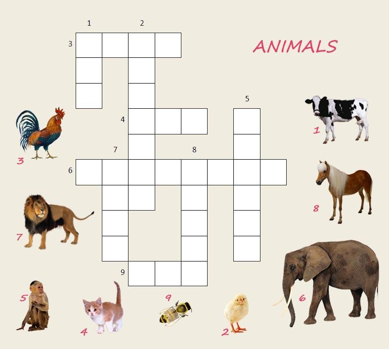 Сканворды для детей, животные