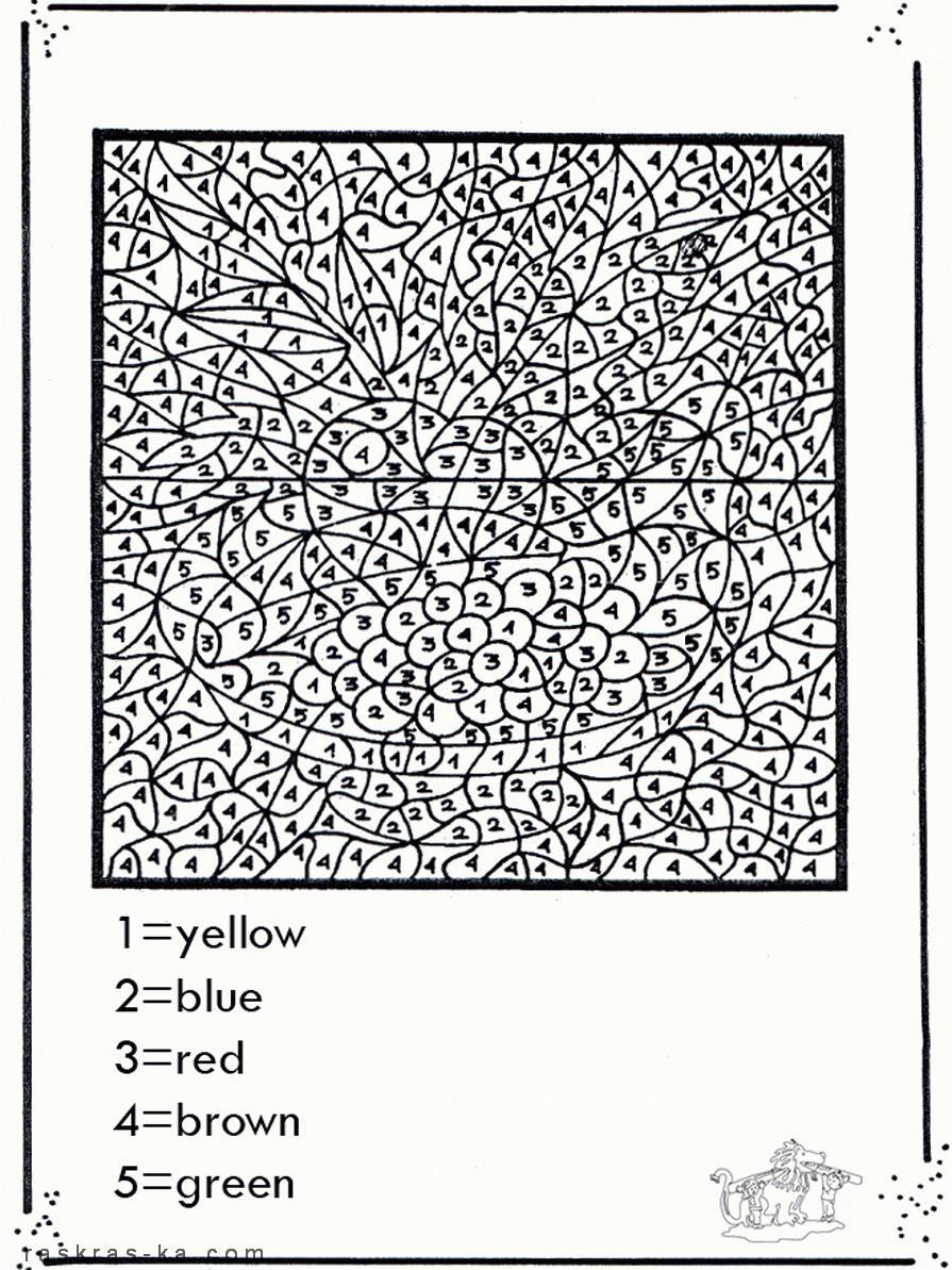 Сложные математические раскраски на английском