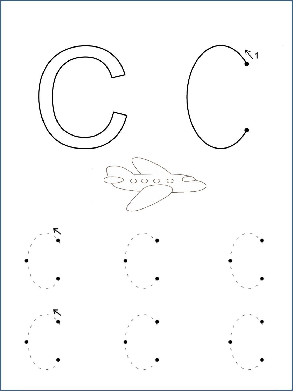 Печатная буква с, с раскраской самолет