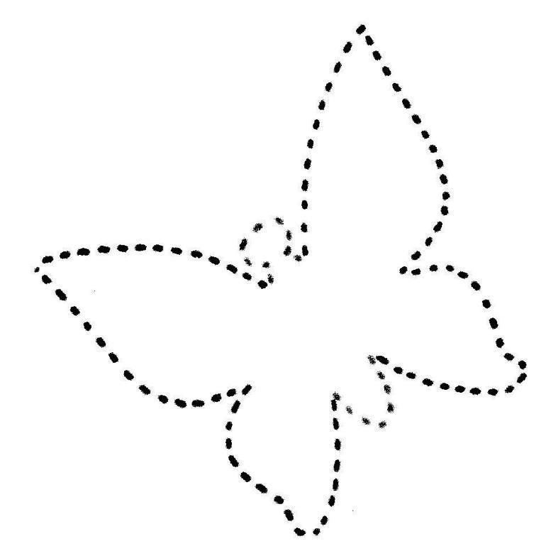 Соедини по точкам для самых маленьких, бабочка