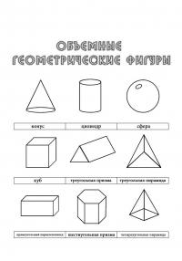 Раскраски фигуры, объемные геометрические фигуры, конус, цилиндр