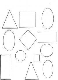 Раскраски фигуры, треугольник, квадрат, овал