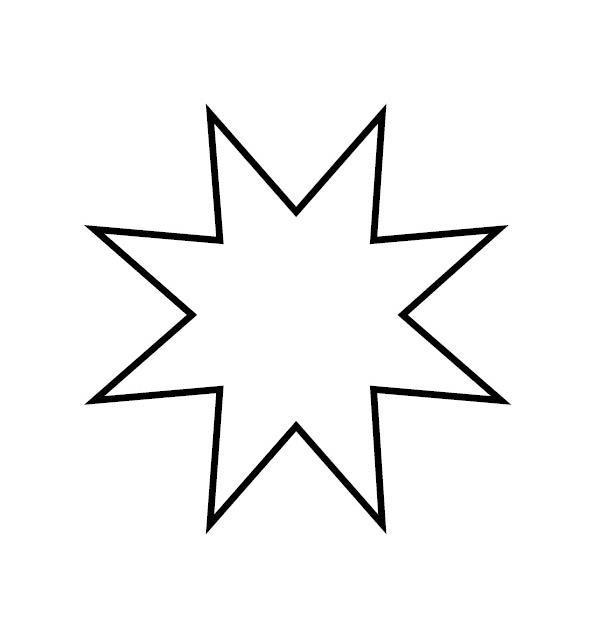 Раскраски фигуры, восьмиконечная звезда
