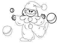 Клоун с мячиками