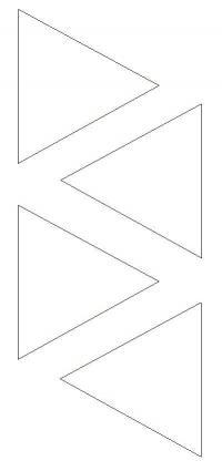 Раскраски из фигур, треугольники