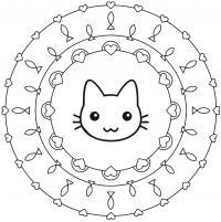 Раскраски из фигур, кошка